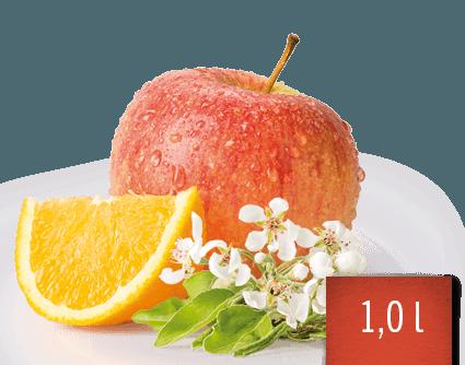 Apfel-Orange Fruchtsaftgetränk
